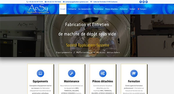 Création site internet Application Systeme par Ingenieweb5