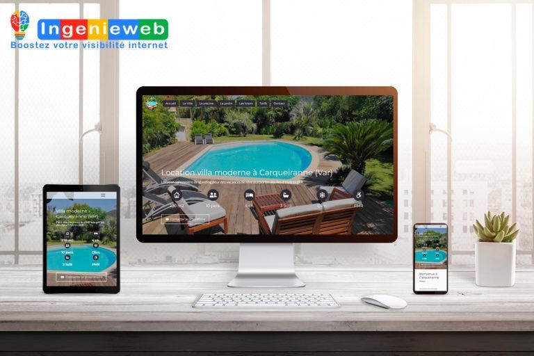 site internet Location Villa Carqueiranne par Ingenieweb
