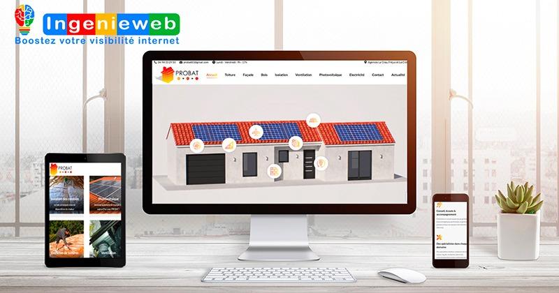 création site internet Probat83 par Ingenieweb